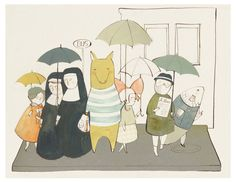Umbrella Parade by Kelsey Garrity-Riley. I love art with umbrellas.