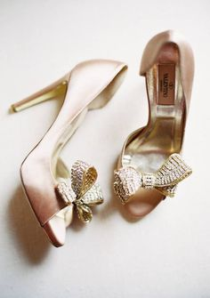 Valentino shoes heels, old rose and gold.
