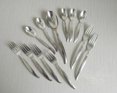 1847 Rogers Bros IS Flair Flatware  1956 Silver Plate by gazaboo