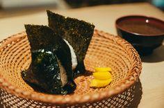 おにぎり浅草宿六 ONIGIRI ASAKUSA YADOROKU | Listings | 100 Tokyo Rice Balls, Pie Dish, Food Art, Tokyo, The 100, Japanese, Tokyo Japan, Japanese Language