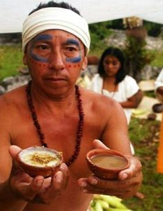 Balché, a Mayan drink made from the bark of a leguminous tree, which is soaked in honey and water and fermented. A closely related beverage, made from honey produced from the nectar of a species of morning glory, was called xtabentún.
