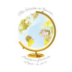Flower Globe Custom Art Prints by Baumbirdy | Minted