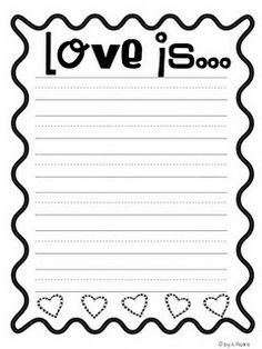 Love is... writing paper