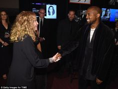 Nice to meet you: Kanye shook hands with legendary actress Mia Farrow upon meeting her