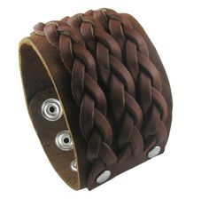 "1.8"" Wide Braided Design Brown Punk Rock Biker Leather Bracelet Bangle Bracelet Cuff Wristband for Men Women Boys Girls Unisex - Adjustable (LSB001) Jasmine http://smile.amazon.com/dp/B00GSSTC16/ref=cm_sw_r_pi_dp_EUCHwb0PZAKQ4"