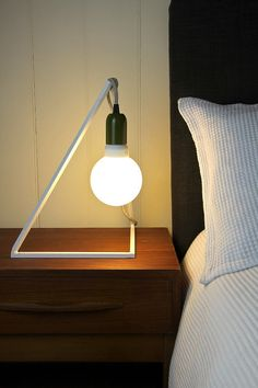 Geometric bedside lighting lamp stand bracket pendant hanging wire trouble cage lamp support