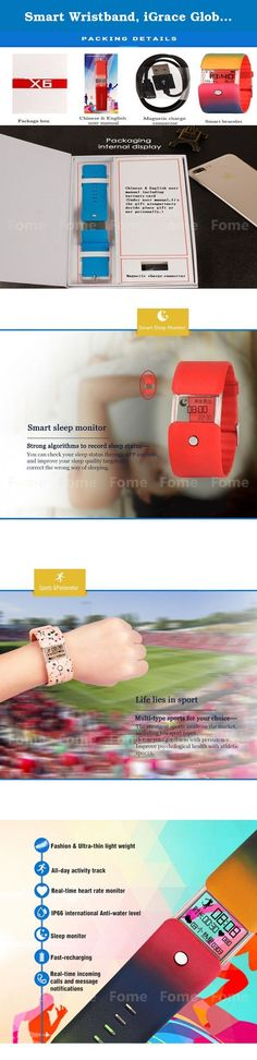 Smart Wristband, iGrace Global First Transparent Screen Sport Bracelet IP66 Waterproof Bluetooth Smart Sports Fitness Tracker Pedometer Step Counter Calorie Sleep Monitor for Android and IOS. Smart Wristband, iGrace Global First Transparent Screen Sport Bracelet IP66 Waterproof Bluetooth Smart Sports Fitness Tracker Pedometer Step Counter Calorie Health Sleep Monitor for Android and IOS Product Description Features : 1. Fashion band design: Under extreme technology, the thickest part for...