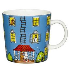 "Moomin Mugs from Arabia – A Complete Overview (2019)  Moominhouse / Muumitalo (2015–). The motif comes mainly from the story ""Moomin and the Golden Tail"". The mug was accompanied by a cone-shaped paper roof to put on the house."