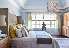 Blue Bedroom Oasis What a difference a coat of paint can make in lifting a bedroom from the decorating doldrums and infusing it with serene style.