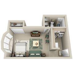 Studio | 335 - 350 sq. ft.