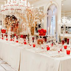 Amy Lau designed dining room to celebrate @Baccarat 250th Anniversary! #Baccarat #interiordesign #hhnyc2014