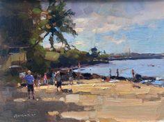 Jim McVicker     9x12 quick draw painting from Canoe Beach