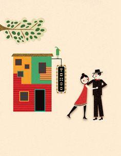 Buenos Aires - Monica Andino, Illustration & Design Studio // Estudio de Ilustración y Diseño Gráfico