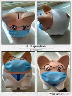 Piggy Banks, Paper Mache, Amazing, Creative, Crafts, Ideas, Pigs, Safe Room, Paintings