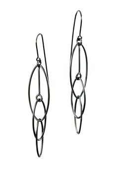 Interlocking Ovals Earrings.  Oxidized Sterling Silver.  See them at my page on www.artfulhome.com