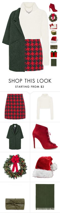 """""""Merry Christmas! """" by genesis129 on Polyvore featuring Gucci, Roberto Cavalli, MANGO, Gianvito Rossi, Improvements, LULUS, Études, Old Navy and vintage"""