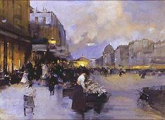 Luigi Aloys-Francois-Joseph Loir   Paris, Morning