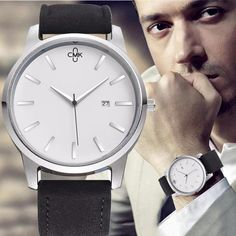 2018 CMK Military Leather Business Quartz Watches Men Top Brand Luxury Sport Casual Calender Wristwatch Relogio Masculino clock From Touchy Style Outfit Accessories. Cheap Watches, Best Watches For Men, Luxury Watches For Men, Cool Watches, Black Watches, Unique Watches, Elegant Watches, Wrist Watches, Teenager Fashion Trends