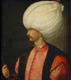 Soliman II le Magnifique, sultan de 1520 à 1566 (1530, portrait attribué au Titien, National Gallery, Londres)