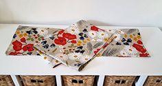 Handmade Linen Cotton Wild Meadow Flowers Tea Towel Kitchen Towel Dish Towel.