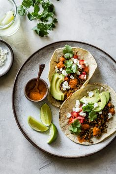 Smoky Lentil Tacos {