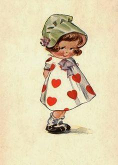Valentine's Day - Artist: Charles Twelvetrees (Stamp: ~ Postmark/Cancel: 1917 Glenburn, ND) Vintage Valentine Cards, Vintage Cards, Vintage Postcards, Vintage Images, Vintage School, Vintage Paper Dolls, Vintage Birthday, Vintage Labels, Vintage Children
