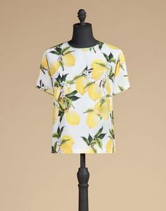 SHORT-SLEEVED TOP IN PRINTED COTTON  - Tops - Dolce&Gabbana - Summer 2016