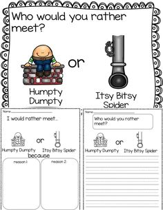 Opinion writing. Perfect for kindergarten or 1st grade. Includes writing, oral language and surveys to tie in math