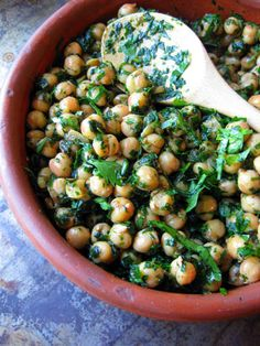 Salade de pois chiche à la marocaine