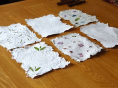 Make Paper with Wildflower Seeds. These are easy peasy to make and will save a ton of $$!