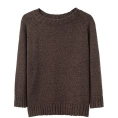 A.P.C. Raglan Sweater (€105) ❤ liked on Polyvore featuring tops, sweaters, shirts, relaxed fit shirt, shirt sweater, relax shirt, marled sweater and brown shirt