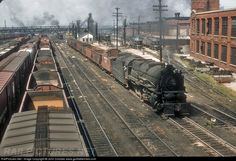 RailPictures.Net Photo: PRR 4420 Pennsylvania Railroad Steam 2-10-0 at Columbus, Ohio 8/14/56 by John Dziobko www.godfatherrails.com
