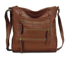 Scarleton Chic Quadru Zip Crossbody Bag H2004 ** Trust me, this is great! Click the image. : Shoulder Handbags