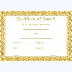 Award Certificate Template - Black and White | Michael Kors | Pinterest