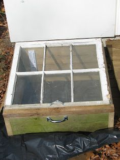 Cold Frames - I found these windows in the trash, made a frame out of leftover scraps, attached handles so I could carry the box off the deck when not in use, and attached a handle and hinges to the window so I could open and close it.  I have eleven of these.  Total cost, about $20/frame.