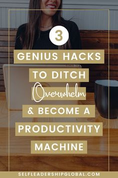 3 Time Management Hacks to Ditch Overwhelm & Productive Things to Do to Build Your Online Business | Entrepreneur Mindset Tips - Are you a small business owner wanting to stop wasting time and supercharge your productivity instead? Click here to find out how to be more productive and increase your income and earn more money with your online business. Self Leadership Global | productivity hacks | business systems | creating systems #businessmanagement #organizeyourbusiness #entrepreneurtips