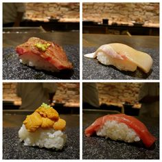 Aburi Wagyu Kanpachi Hokkaido Uni Chu-Toro @ Jabistro [Toronto ON] #sushi #food #foodporn #japanese #Japan #dinner #sashimi #yummy #foodie #lunch #yum