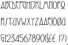 Art Nouveau Typeface ~ Swaak Centennial (Mecanorma)