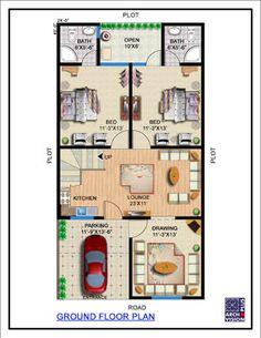 Town House Plans, 20x30 House Plans, Little House Plans, 2bhk House Plan, Small Modern House Plans, Free House Plans, Small House Floor Plans, Beautiful House Plans, Model House Plan