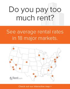 Do you pay too much rent? See average rental rates for Seattle, San Francisco, Sacramento, Los Angeles, San Diego, Las Vegas, Phoenix, Denver, Austin, Houston, Minneapolis, Chicago, Atlanta, Orlando, Charlotte, Baltimore, Philadelphia and New York with Rent.com's interactive map. #apartment #rent #renting