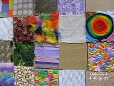 sensory boards from coasters for preschool autism classroom