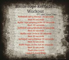 #workouts #battlerope #kettlebell