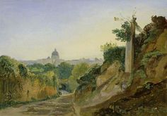 Giroux, Andre, (1801-1879), A View of Rome, 1831, Oil