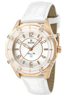 Price:$306.67 #watches Bulova 98R150, Showcasing a smart blend of contemporary and classical styles, this Bulova is an elegant addition to any woman's wardrobe. Bulova's Elite All Swiss Made Collection.