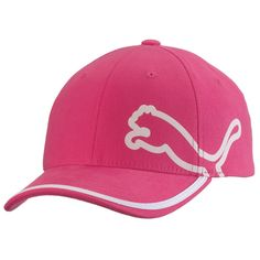 dc24153c429 Puma Monoline Youth Relaxed Fit Golf Hat - Pink White at InTheHoleGolf.com  Pink