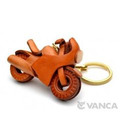 Racing Bike Leather Keychain(L)