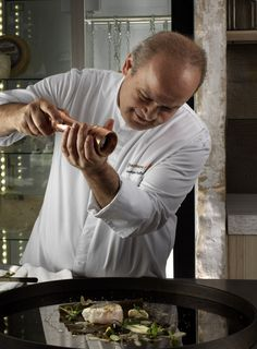Capturing the moment!  Chef George Stylianoudakis creating innovative and delicious dishes for our guests at Kenshō Boutique Hotel & Suites, Mykonos. #KenshoMykonos #KenshoFineDining #Dining #Gastronomy #Cuisine #KenshoRestaurant https://www.kenshomykonos.com/gourmet-dining/