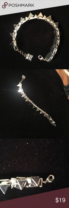 Bcbg cone bracelet Silver bcbg bracelet. Super cute and trendy BCBGMaxAzria Jewelry Bracelets
