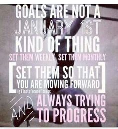 Goals are a year round endeavor! #fitness