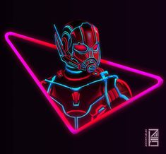 Ant man in neon mod